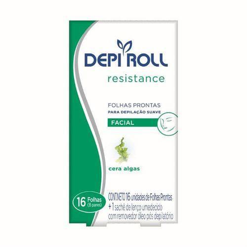 Folha Pronta Facial Resistance Algas Depiroll - 16 Folhas