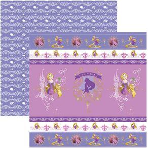 Folha Scrap Festa Dupla Face Rapunzel Fitas e Rótulos Ref.20720-SDFD149 Toke e Crie