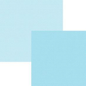 Folha Scrapbook Básico Azul Bebê Poá Ref.8541-KFSB08 Toke e Crie