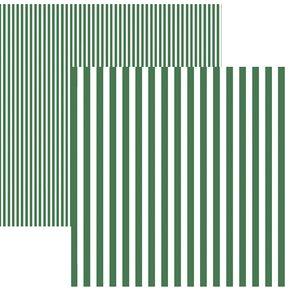 Folha Scrapbook Básico Listras Verde Ref.19971-KFSB430 Toke e Crie