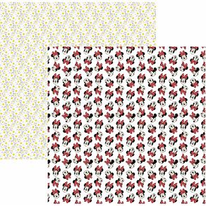 Folha Scrapbook Básico Minnie Mouse Divertido Ref.20839-SBD12 Toke e Crie
