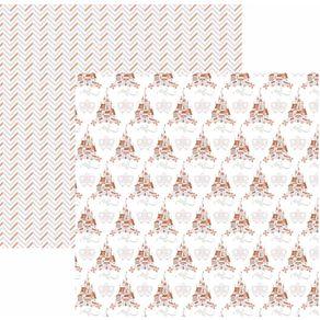 Folha Scrapbook Básico Princesas Castelo Ref.20841-SBD14 Toke e Crie