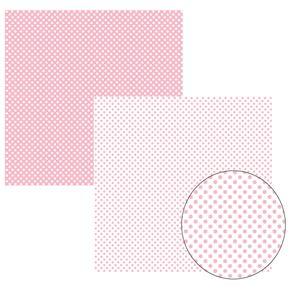 Folha Scrapbook Básico Rosa Bebê FB Poá Grande Ref.11024-KFSB141 Toke e Crie
