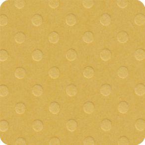 Folha Scrapbook Cardstock Bolinhas II Amarelo Manteiga Ref.19658-PCAR482 Toke e Crie
