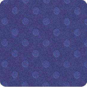 Folha Scrapbook Cardstock Bolinhas II Azul Médio Ref.19657-PCAR481 Toke e Crie