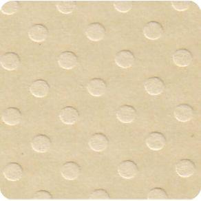 Folha Scrapbook Cardstock Bolinhas II Palha Ref.19651-PCAR475 Toke e Crie