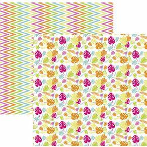 Folha Scrapbook Dupla Face Folhagem Colorida Ref.20827-SDF834 Toke e Crie