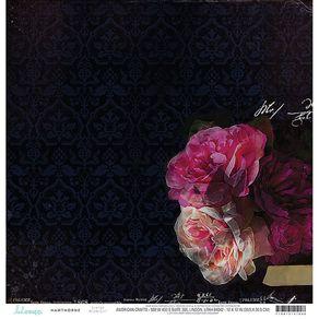 Folha Scrapbook Dupla Face Hawthorne Midnight (Meia Noite) Ref.21136-WER153/314104 American Crafts
