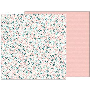 Folha Scrapbook Dupla Face Night Night Baby Blossoms (Girl Florescer) Ref.21126-WER143/732669 American Crafts