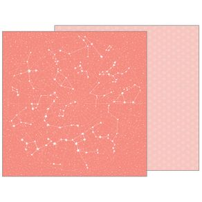 Folha Scrapbook Dupla Face Night Night Twinkle Twinkle (Girl Brilho) Ref.21123-WER140/732667 American Crafts