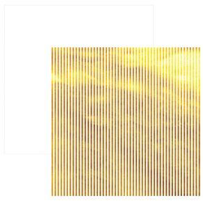 Folha Scrapbook Metalizada Listras Dourado FD Branco Ref.17734-SDF613 Toke e Crie