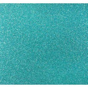 Folha Scrapbook Puro Glitter Azul Turquesa Ref.15339-SDPG11 Toke e Crie
