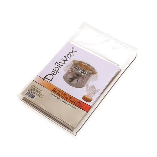 Folhas Plásticas Depilwax Protetoras de Termocera com 10 Unidades