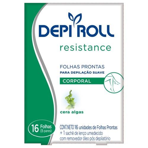 Folhas Prontas Corporal DepiRoll Algas C/16 um