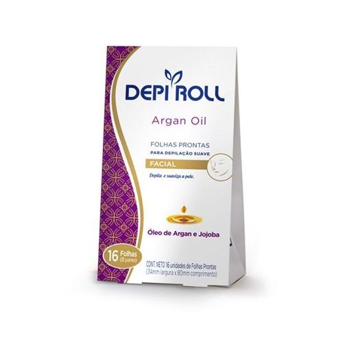 Folhas Prontas Depilatórias Buço Argan Oil 16un