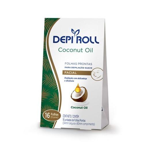 Folhas Prontas Depilatórias Buço Coconut Oil 16un