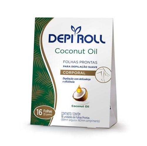 Folhas Prontas Depilatórias Corporais Coconut Oil 16un