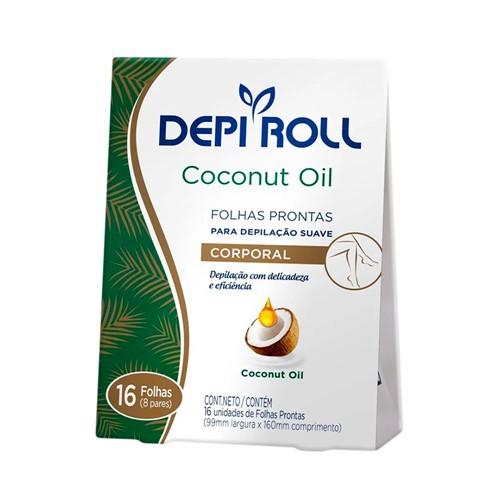 Folhas Prontas DepilRoll com 16 Coconut