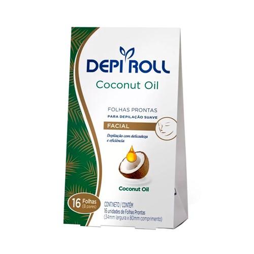 Folhas Prontas DepiRoll Facial com 16 Coconut