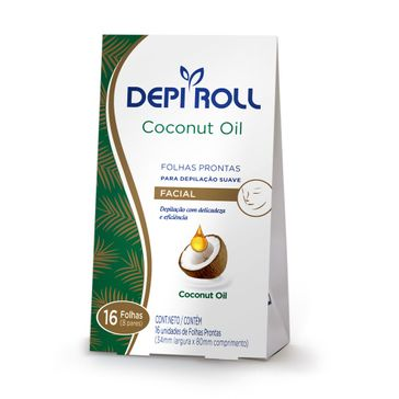 Folhas Prontas Facial Coconut Oil 8 Pares