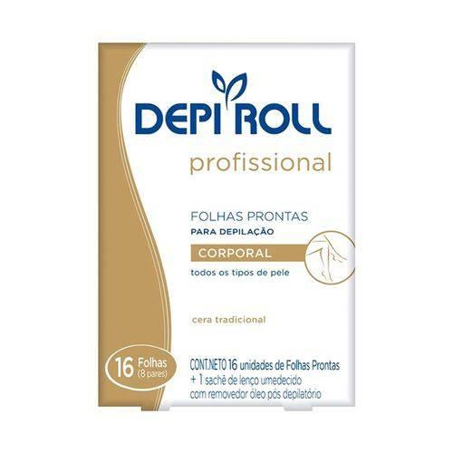 Folhas Prontas para Depilação Corporal Depi Roll Tradicional 8 Pares