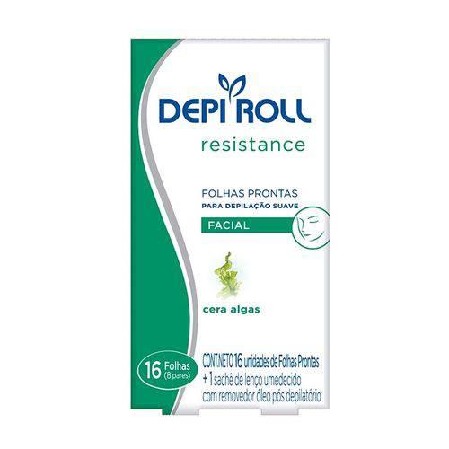 Folhas Prontas para Depilação Facial Depi-Roll Algas - 8 Pares