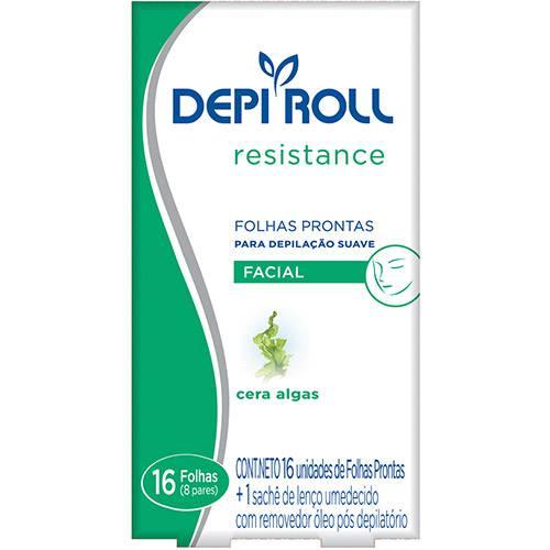Folhas Prontas para Depilação Facial Depi Roll Algas 8 Pares