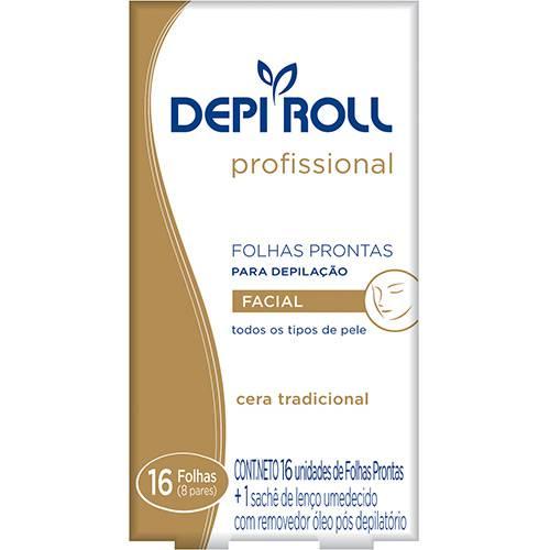 Folhas Prontas para Depilação Facial Depi Roll Tradicional 8 Pares