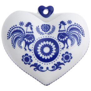 Folksy Vaso Parede 10 Cm Branco/azul Austral