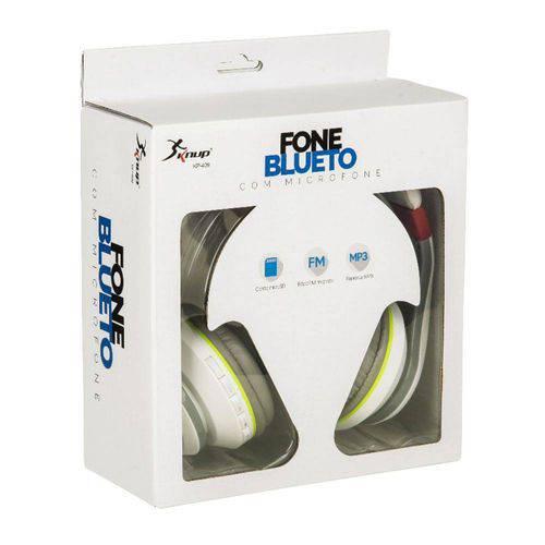 Fone Bluetooth Fm Cartão Sd Microfone Atende Chamadas KP-409