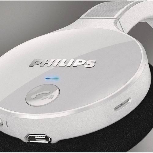 Fone de Ouvido Bluetooth Sem Fio com Microfone - Philips Shb4000wt/00