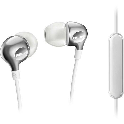 Fone de Ouvido com Microfone Intra Auricular She3705wt00 Branco - Philips