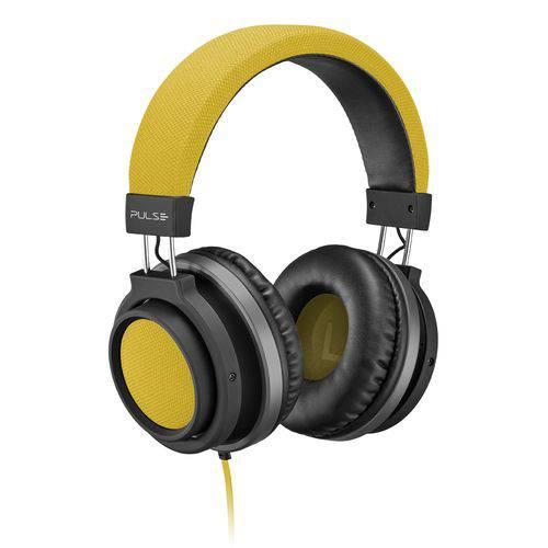 Fone de Ouvido Headphone Auxiliar P2 Amarelo e Preto Large PH229 Pulse