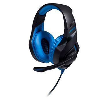 Fone de Ouvido Headset com Led 2.0 USB Azul Warrior - PH244 PH244