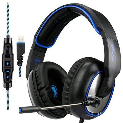 Fone de Ouvido Headset Gamer R7 com Microfone Ps4 Xbox One Sades