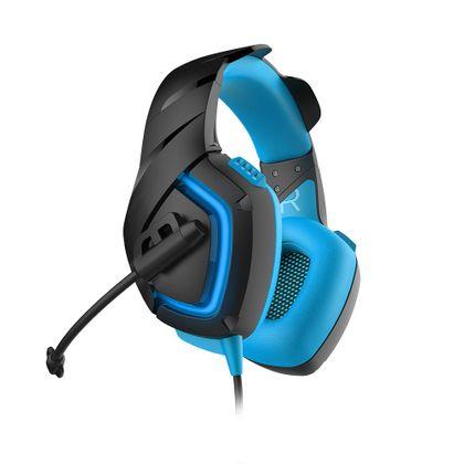 Fone de Ouvido Headsete com Led 2.0 USB Azul Warrior - PH244 PH244