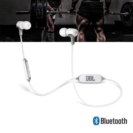 Fone de Ouvido JBL E25 BT Bluetooth Branco Intra Auricular