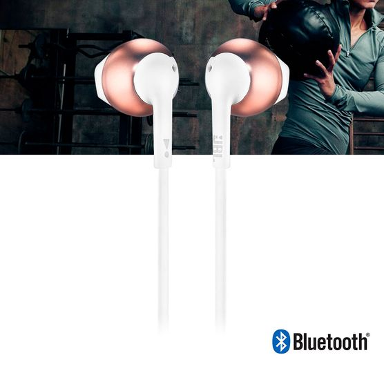 Fone de Ouvido JBL T205BT Bluetooth Rosa Rose Gold