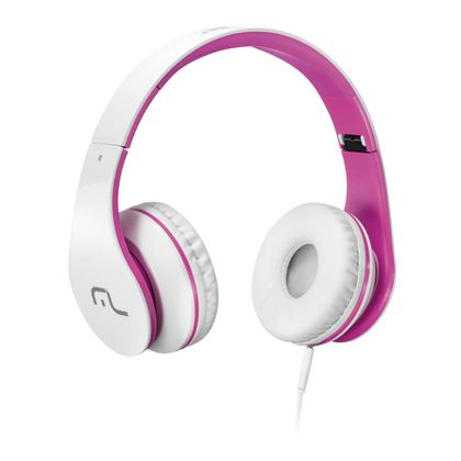 Fone de Ouvido Multilaser com Microfone para Celular Branco e Rosa P2 - PH114 PH114