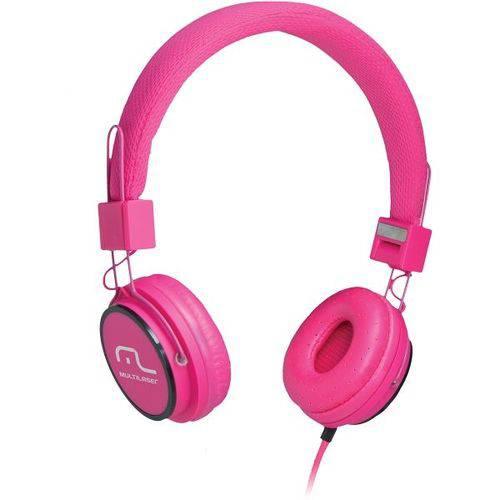 Fone de Ouvido Multilaser Ph088 Fun Headphone Rosa