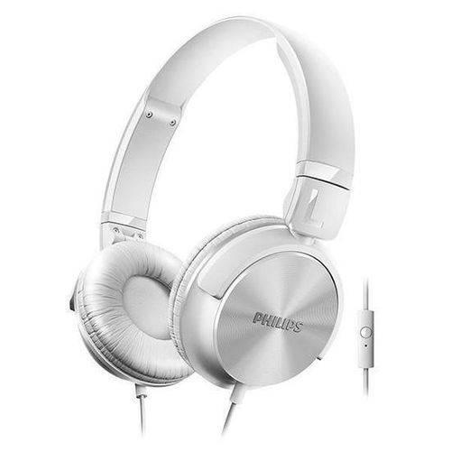Fone de Ouvido Philips SHL3065 1000mW com Microfone - Branco