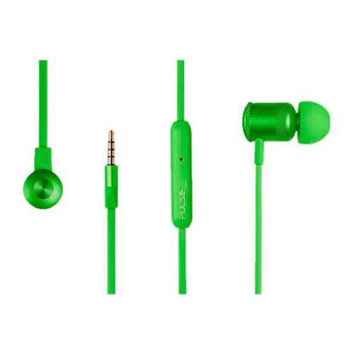 Fone de Ouvido Pulse By Multilaser Verde Stereo Audio, PH189