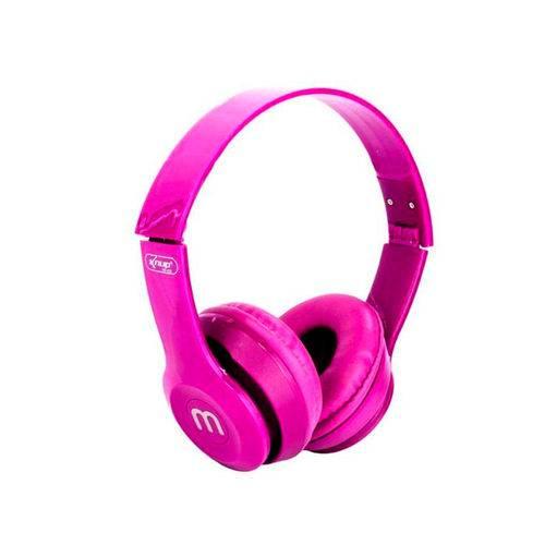 Fone de Ouvido Rosa Dobrável Design Confortável Colorido KP-429