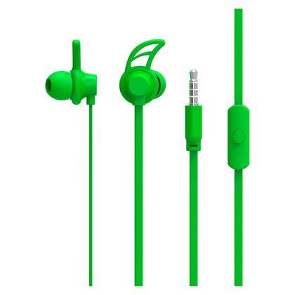 Fone de Ouvido Sport Neon Series Hook Verde - PH176 PH176