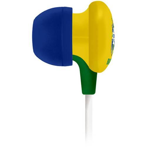 Fone de Ouvido Waldman Intra Auricular Amarelo e Azul Super Fan SF-10-CBF/YL