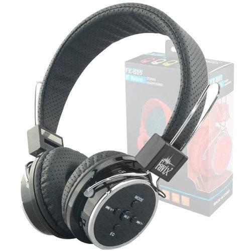 Fone Ouvido Favix B05 Sem Fio Bluetooth Sd Card Fm Preto Slim Fit Sem Led
