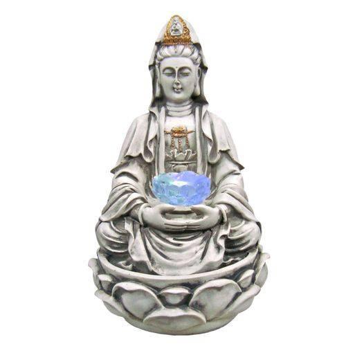 Fonte de Água Decorativa Kuan Yin com Led Colorido.