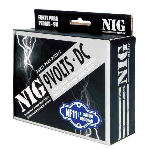 Fonte Nig Nf 11 Pedal 9v 1500ma Bivolt Estabilizada