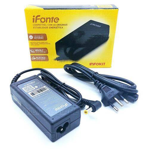Fonte para Notebook Ifonte Ac-01 Compatível para Acer 65w 19v 3.42a Bivolt Conector 5.5 X 1.7mm