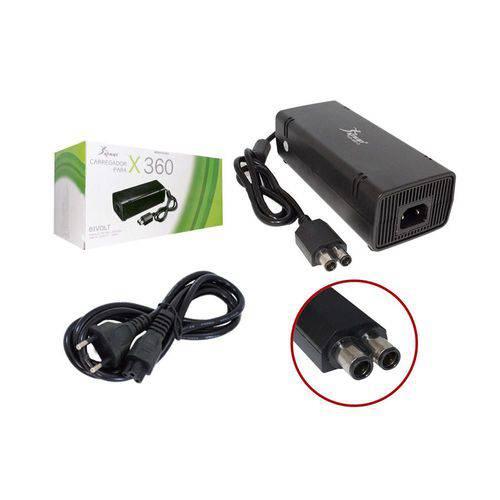 Fonte para Xbox360 Slim Bi Volt 110v 220v Ac Adaptater Cabo 80cm Kp-w013 Kp-w013 Knup